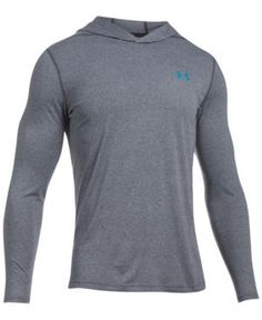 Under Armour Men's Threadborne Siro Lightweight Ultra-Soft Hoodie - Grey/Blue XXL