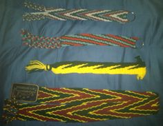 A few of my Finished Finger Weaving Projects