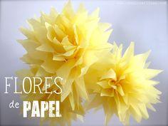 #Artividades : Flores de Papel Crepé