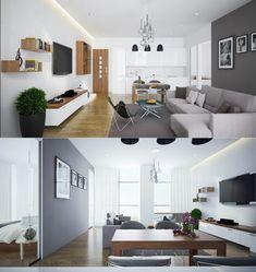 Vielzahl Der Offenen Plan Wohnzimmer Entwürfe Mit Luxusinnenraum Dekor, Die  Einen Schönheitseindruck Darstellen