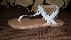 d0f6e29f270b Women s Sandals Size 8 White Gladiator Montego Bay Club new! Very cute   fashion