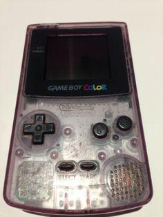 Console GameBoy Color Atomic Purple : Violet transparent / Clear purple (1998)