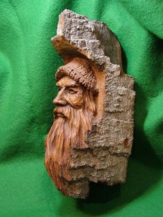 A fine bark carving....