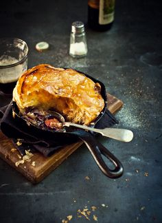 Individual gutsy lamb shank & shiraz pies. (Scroll down the page & the recipe is under the photo) I'm confused on what HP sauce is though...