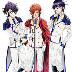 Fushimi Saruhiko,  Yata Misaki and Munakata Reisi.   K: Return of Kings.
