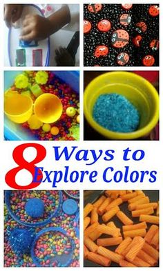 8 Fun ways to explore colours with Toddlers and Preschoolers. Simple Color Exploration actiities