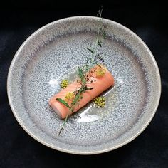 Poached Salmon - Ora king salmon, scallop mousse, fennel & tarragon consommé. ✅ By - @reonhobson ✅ #ChefsOfInstagram