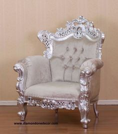 """""""Budreau"""" Chair is a fabulous Baroque French Reproduction made of hand-carved mahogany in the Louis XVI style This beautiful, custom-made French Reproduction chair is available in your choice of fabri"""