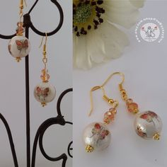 """""""What the caterpillar calls the end, the rest of the world calls a butterfly.""""  ― Lao Tzu. ***  ***  #earrings #butterfly #nature ##jewelry #cottonpearl #handmade #handmadejewelry #birthday #christmas #giftideas #gift #christmasgift #christmaspresent #giftforher #giftforwoman"""