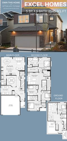 Hathaway 2 Story Floor Plan With Basement 5 Bedroom 45 Bathroom 1556 sq ft Two Story House Plans, Sims House Plans, House Layout Plans, Best House Plans, Dream House Plans, Modern House Plans, Small House Plans, House Layouts, Floor Plans 2 Story