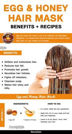 Egg and Honey Hair Mask: Benefits + Top 9 Hair Mask Recipes