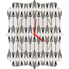 Holli Zollinger Arrows Quatrefoil Clock