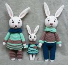 Are you looking for free cute amigurumi bunny pattern? Crochet with Amigurumi Today! Here you can discover lots of amigurumi bunny ideas and crochet bunny patterns suited to every fancy! Amigurumi Free, Crochet Amigurumi, Amigurumi Doll, Crochet Dolls, Amigurumi Tutorial, Crochet Mignon, Crochet Bunny Pattern, Crochet Rabbit, Baby Knitting Patterns