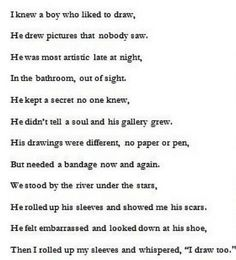 No I do not self harm but I found this cute for some reason... For those who do cut: #StayStrong it will eventually get better :)xx