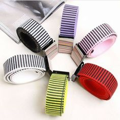 Free shipping 2013 autumn and winter new men and women who fashion canvas belt, rainbow striped belt, printing belt, wholesale