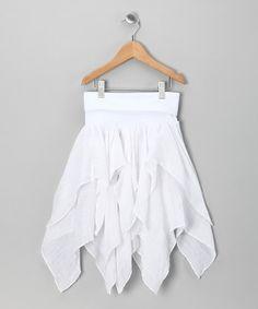 White Handkerchief Skirt - Toddler & Girls