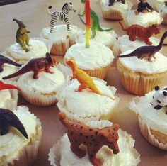 little boy birthday, animals are the party favors!