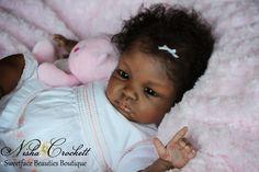 Ethnic AA African American Biracial Reborn Dolls Shyann by Aleina Peterson