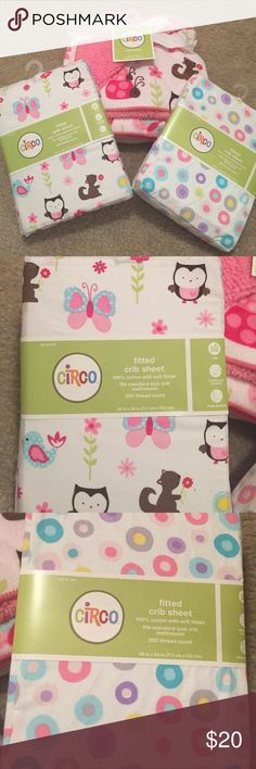 Spotted while shopping on Poshmark: Set of brand new baby blanket and crib sheets! #poshmark #fashion #shopping #style #Circo #Other