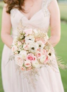 Soft pink and cream bouquet