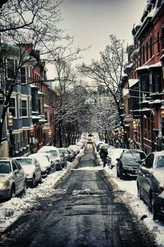 Great day in Boston! Love the snowy streets.