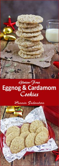 Gently spiked with cloves and cardamom, these gluten-free Eggnog Cardamom Cookies are sure to delight your senses. Delightfully aromatic, slightly chewy and simply delicious, they would be a wonderful addition to your Christmas Cookie list - packaged in Rubbermaid TakeAlongs! #ShareTheHoliday #ad