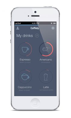 iPhone app #ui #gui - Coffely on Behance