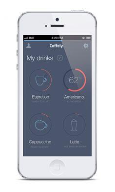 iPhone app #UI   Coffely on Behance