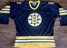 ba6134940 Boston Bruins Starter Jersey NHL Alternate Third Uniform Bear Vintage Mens  XL Mens Xl