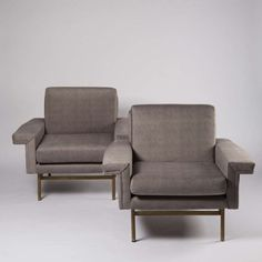 Pair of Armchairs by Giampiero Vitelli for Rossi di Albizzate | From a unique collection of antique and modern armchairs at http://www.1stdibs.com/furniture/seating/armchairs/