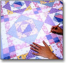 Quilting in the Ditch.   Mark No More | Lessons | Quiltmaker