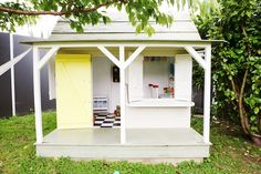 Going to paint the playhouse. Time to decorate that thing so the kids actually use it! This is my inspiration!