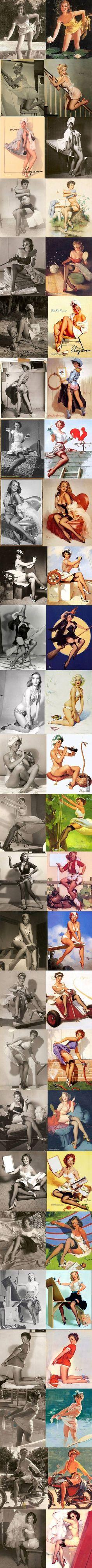 When there was no Photoshop... - 9GAG as mulheres  maralindas  deixaram saudades....sensualidade sem #tecnologia