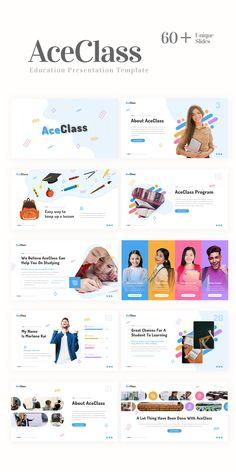 Ace Class – Education Presentation Template #PowerPoint #PPT #template #presentation #pitchdeck #graphicdesign #rrgraph #rrslide Presentation Deck, Corporate Presentation, Presentation Templates, Deck Design, Ad Design, Graphic Design, Social Media Design, Keynote Template, Landing