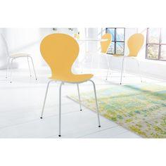 Stoel Form Bicolor Geel Wit stapelbaar - 20652