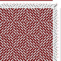 Hand Weaving Draft: Figure 444, A Handbook of Weaves by G. H. Oelsner, 4S, 4T - Handweaving.net Hand Weaving and Draft Archive