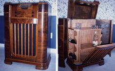 I ripped the guts out of this unusable 1930's Philco radio and converted it into a liquor cabinet.
