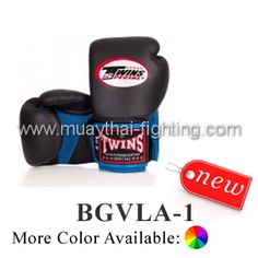 TWINS Special AIR Velcro Boxing Gloves 100% Cowskin Leather  BGVLA-1