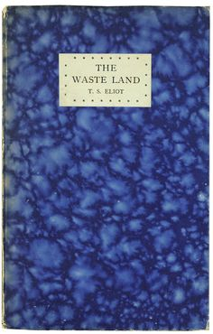 First British edition with T. S. Eliot's notes.