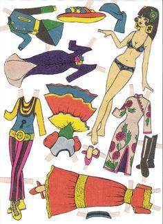 LU - Yakira Chandrani - Picasa Web Albums Paper Art, Paper Crafts, Vintage Paper Dolls, Doll Patterns, 3 D, Childhood, Arts And Crafts, Kids Rugs, Retro