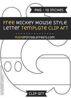 Free Minnie Mouse Style Letter W Template  Clipart  Minnie Mouse