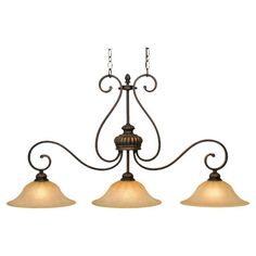 Found it at Wayfair - Mayfair Island 3 Light Pendant in Leather Crackle