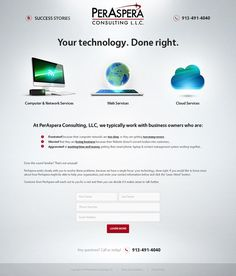 Create a stylish, attractive and compelling landing page design for PerAspera Consulting, LLC by T6S