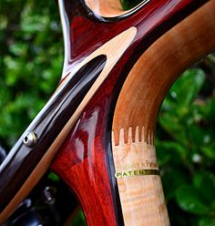 wood bike frame