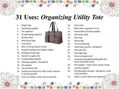 thirty one ideas | Organizing Utility Tote