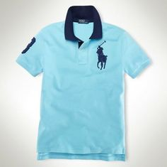 Custom-Fit Big Pony Polo 1001 French Turquoise