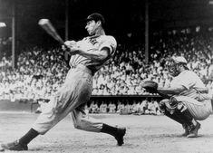 "Joe DiMaggio - nicknamed ""Joltin' Joe"" and ""The Yankee Clipper"" Joe Dimaggio, New York Yankees Baseball, Ny Yankees, Phil Rizzuto, Baseball Quotes, Baseball Gifts, Famous Baseball Players, Sunday Sauce, Babe Ruth"