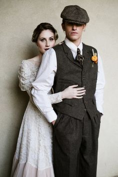 Vintage style menswear for your groom and groomsmen Groom Inspiration by Magpie Wedding Roaring 20s Wedding, Flapper Wedding, Wedding Tux, 1920s Wedding, Wedding Blog, Wedding Ideas, Wedding Outfits, Farm Wedding, Wedding Couples