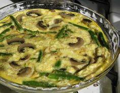 Quick Mushroom and Asparagus #Frittata. Click For Recipe