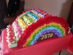 Girl Scout Bridging cupcake bridge.. Done by our AWESOME leader from troop 2579..